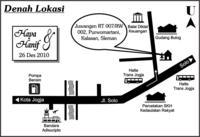 Peta lokasi walimahan
